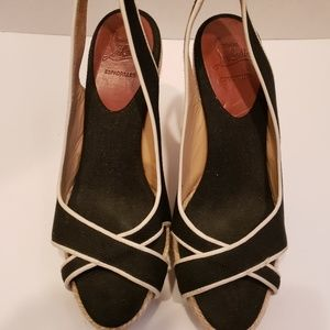 Christian Louboutin black and white espadrilles
